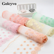 1Meter Colorful Gauze Crochet Lace Trims Edge Colthing Skirt DIY Sewing Crafts 14cm Width