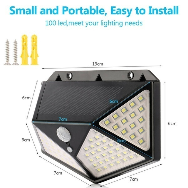 Solar lights outdoor 100 led brigh