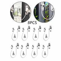 8 pièces serrures de fenêtre enfants Protection serrure en acier inoxydable limiteur de fenêtre