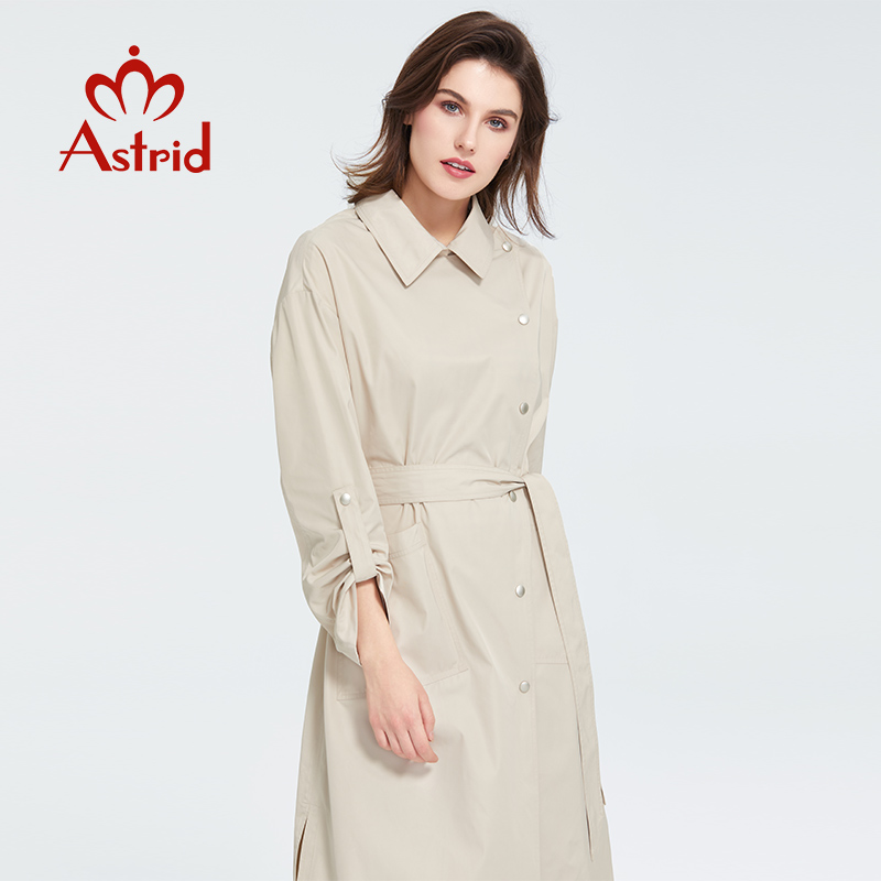 Astrid 2020 Spring New Arrival Casual Trench Coat Women Oversize Outwear Loose Clothing Fashion With а Belt Female Jacket 7090