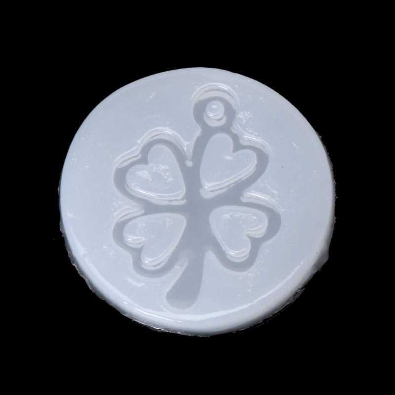 Nhựa Chống UV Trang Sức Silicone Lỏng Khuôn Cỏ Ba Lá Chuông Cây Khung Tự Làm Mặt Dây Chuyền Nữ Trang Sức