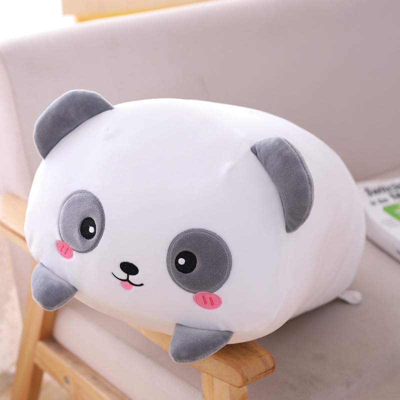 Animal Sweet Panda Hamster Plush Toy Elephant Deer Dinosaur Pig Cat Bear Kawaii Plush Toy Soft Cartoon Stuffed Doll Pillow Gift(China)