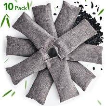 10 шт бамбуковый угольный мешок натуральный дезодорант осушения