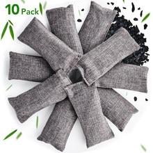 Sachet de charbon de bambou 10 pièces, sachet de déodorant naturel, sacs de déshumidification, sacs de purification d'air, purificateur d'air pour voiture et maison