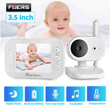 Video Baby Monitor Wireless 3.5 inch LCD Screen Display Lullabies Built-in Nanny Baby Camera Vox Mode Night Vision Two Way Audio babykam video baby monitors 3 2 inch lcd ir night vision intercom lullabies temperature monitor baby camera radio baby monitors