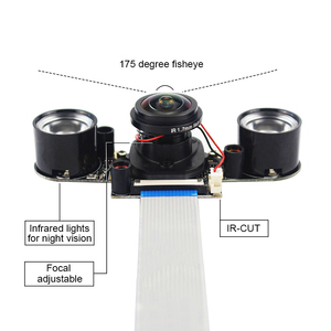 Image 2 - Raspberry Pi 4 IR CUT Camera Night Vision Focal Adjustable 5MP Fish Eye Auto Switch Day Night for Raspberry Pi 3 Mode B+/4B