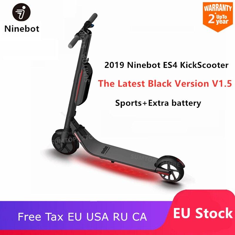 Original Ninebot KickScooter ES4/ES2 Latest V1.5 Smart Electric Scooter 30km/h Foldable Kick Scooter Hoverboard Long Skate Board