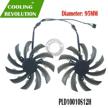 95MM PLD10010S12H reemplazo del ventilador del refrigeración RTX2070 GTX1660Ti RTX2060 para Gigabyte GTX 1650 1660Ti RTX 2060 de 2070 gráficos Tarjeta de Fans