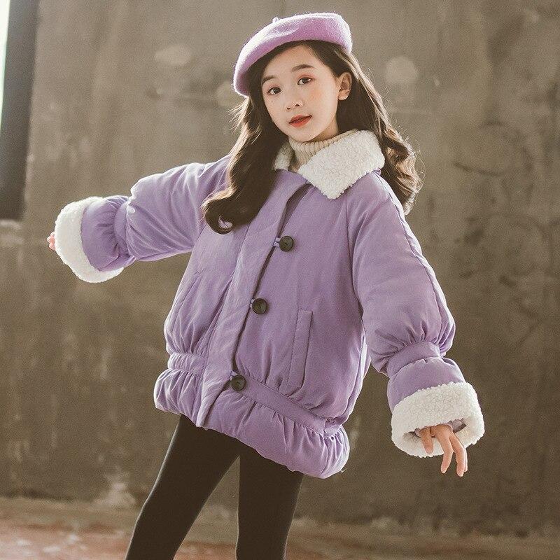 Adolescentes hiver bas manteau enfants veste pour filles vêtements d'extérieur épais col de fourrure enfants doudoune enfants vêtements 12 13 14 ans