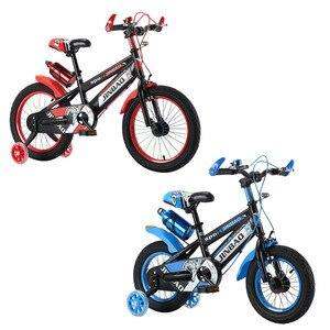 Детский велосипед с нескользящей ручкой для мальчиков и девочек с тренировочными колесами