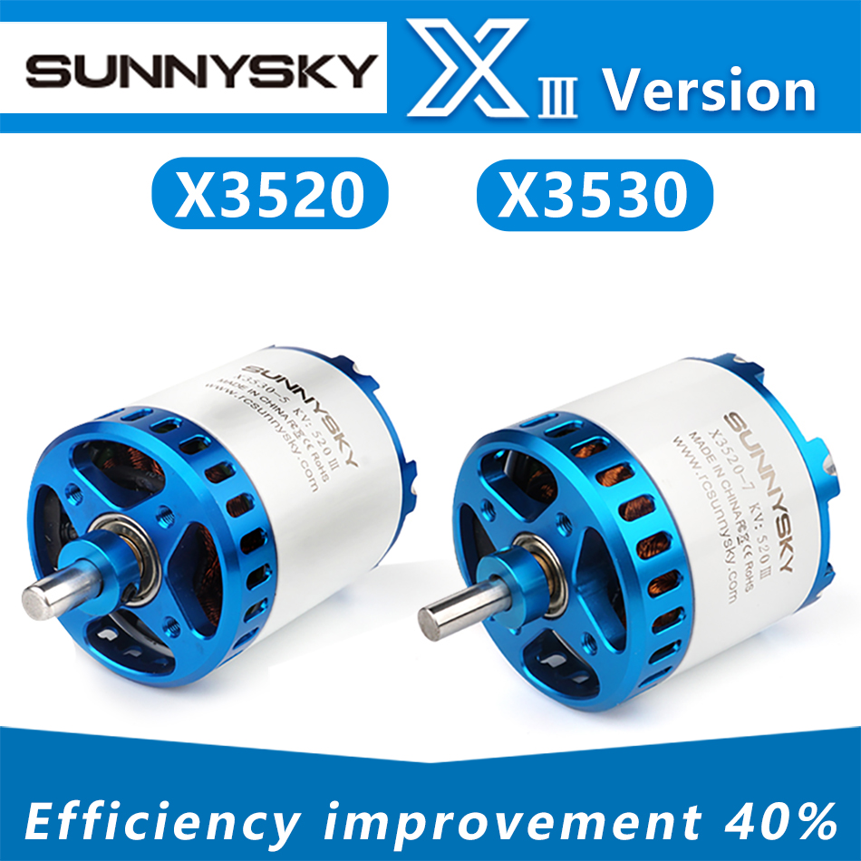 SUNNYSKY X3520-III X3530-III I 445KV 560KV 780KV Brushless Motor For RC Quadcopter Airplanes Fixed Wing Plane