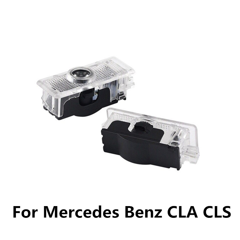 2pcs LED Car Door Welcome Light For Mercedes Benz CLA CLS C218 W218 A207 C207 C117 AMG Logo Laser Projector Ghost Shadow Light