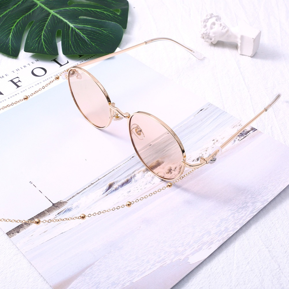 Fashion Womens Gold Silver Eyeglass Chains Sunglasses Reading Beaded Glasses Chain Eyewears Cord Holder neck strap Rope (8)