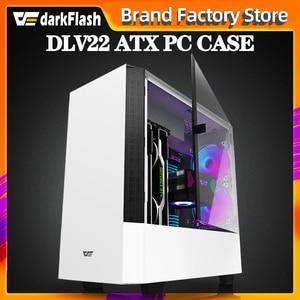 Darkflash DLV22 escritorio ATX caja de la computadora DIY rightside puerta apertura gaming Tempered glass gabinete pc caso gamer gran chasis