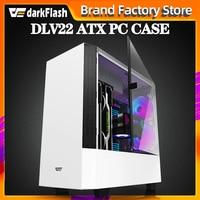 Darkflash DLV22 ATX desktop computer case DIY rightside door opening gaming Tempered glass gabinete pc case gamer large Chassis