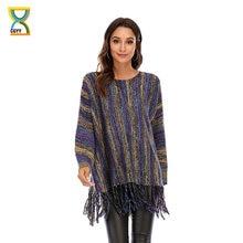 Cgyy осенне весенний тонкий свитер женские пуловеры с кисточками