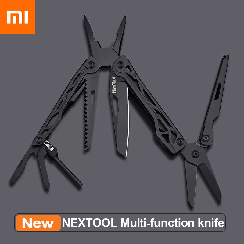 XIAOMI Mijia 10 In1 Tools Multifunctional Tools Blade Folding Pliers Camping Hiking Cycling Portable Scissors Opener Nextool