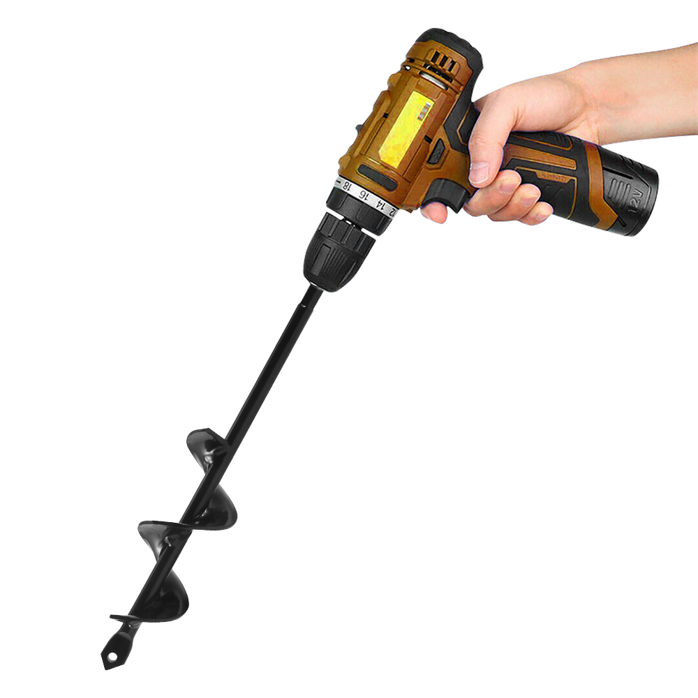 Multifunctional Hole Digger Tools Hand Tool Drill Bit Mini Garden Auger Hole Digger Steel Soil Cultivator Home Fence Borer Yard