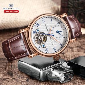 Image 5 - Sea frajer biznes zegarki męskie mechaniczne zegarki na rękę kalendarz 30 m wodoodporny skórzany Valentine męskie zegarki 519.11.6040