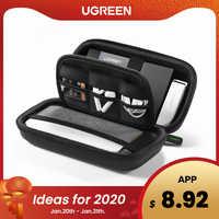 Ugreen housse de batterie portative boîte de étui rigide pour 2.5 disque dur disque USB câble stockage externe transportant SSD HDD boîtier