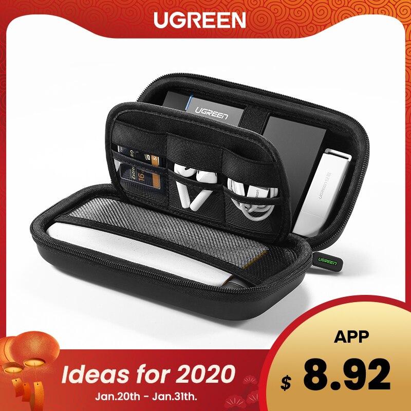 Ugreen power bank caso caixa de disco rígido para 2.5 disco rígido usb cabo de armazenamento externo transporte ssd hdd caso