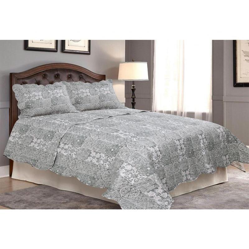 Bedspread полутораспальное Amore Mio, 170*220 cm, gray, with наволочкой все цены