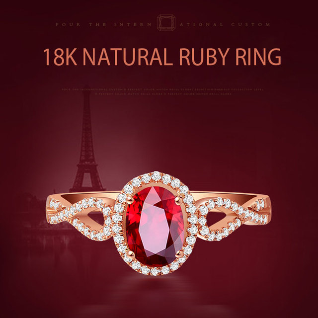 Ataullah Natural Red Ruby Rings 925 Silver 18k Rose Gold Plated Inlaid with 3A Zircon Gemstone Ring Fine Jewelry for Woman RW085 1
