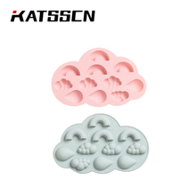 DIY Rainbow Clouds Chocolate Ice Cube Mold Raindrops Silicone Cake Baking Mould Candy Pudding