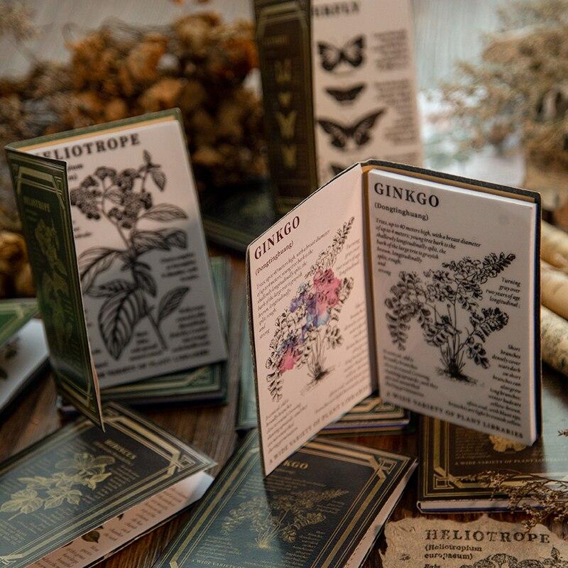 Винтажные антикварные марки декорированные цветами губчатая