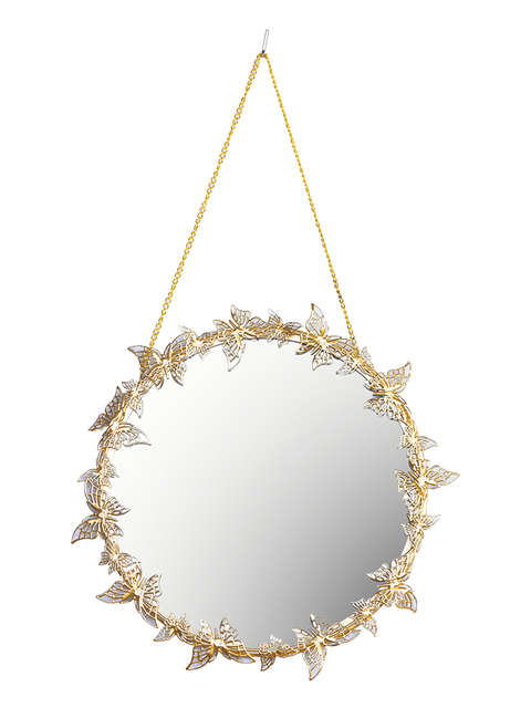 Nordic style Golden Hanging Mirror Butterfly Hanging  Mirror  5