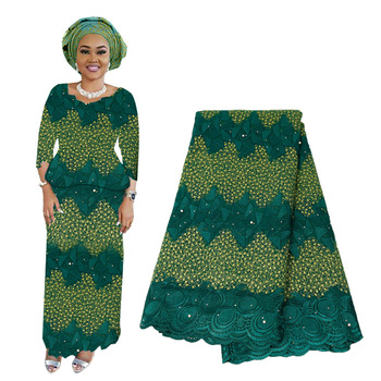 2019 Latest French Nigerian Lace Fabric High Quality Embroidered Tulle African Laces Fabric with Stones For Wedding Voile Lace latest african laces fabrics embroidered african tulle french lace fabric with stones 2019 african french net lace