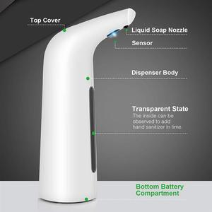 Image 3 - 400 мл автоматический диспенсер для мыла для рук, мыльный диспенсер, для дезинфекции рук, не требующий касания средство Ванная Комната Диспенсер Smart Сенсор дозатор для жидкого мыла для кухни