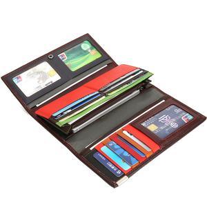Image 3 - Westal bolsa de embreagem feminina carteira feminina couro genuíno colorido moeda bolsa feminina carteiras de couro feminino dinheiro sacos 4202