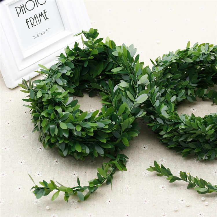 1 metr sztuczne pcv Ivy Garland Home Decor sztuczne girlanda roślinna winorośli ślub boże narodzenie wieniec akcesoria DIY opaski na głowę