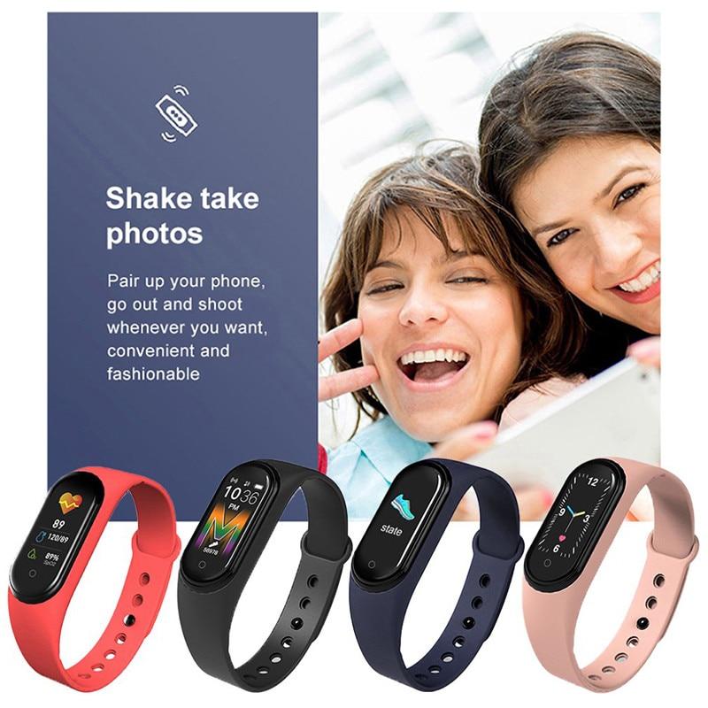 Смарт-браслет M5 для мужчин и женщин, фитнес-трекер для воспроизведения музыки, совместим с устройствами на базе IOS 5