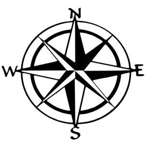 1pc Vinyl Decal Car Boat Window Wall Nautical Sailing Anchor Ship Sticker Originality Nautical Compass 15cm*15cm Glue Sticker 15