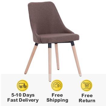4 szt Nowoczesne krzesła do jadalni 2 kolorowa tkanina krzesła do salonu krzesła do jadalni estetycznie zaprojektowane tanie i dobre opinie vidaXL ES (pochodzenie) 800mm Jadalnia meble pokojowe 43 x 43 x 83 cm (W x D x H) Europa i ameryka Jadalnia krzesło 277021 277017