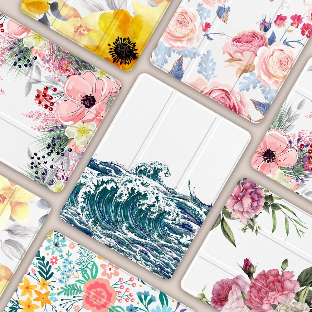 Flowers Print <font><b>Case</b></font> for Apple <font><b>iPad</b></font> Pro 11'' 2020 & 2018Full Body Protective Rugged Shockproof <font><b>Case</b></font> with Pencil Holder A2228 Model image