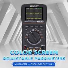 Kkmoon kkm828 multímetro digital gráfico inteligente osciloscópio 2 em 1 com 2.4 polegadas de tela colorida 1mhz largura de banda
