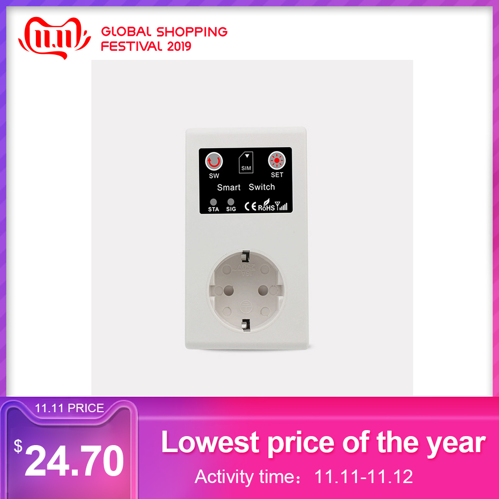 Intelligent Power Socket Electrical Sockets Call SMS APP Remote Control Switch Pump Router Electric Appliance Socket