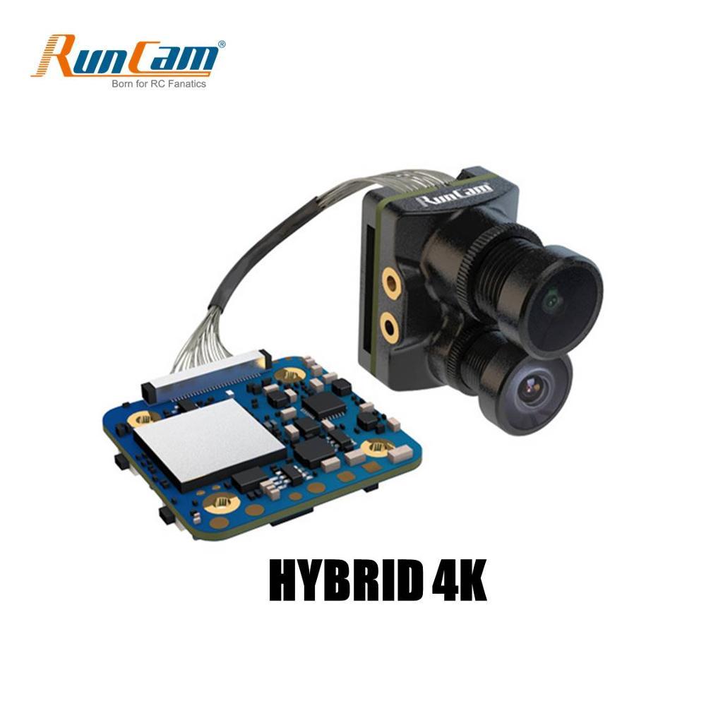 RunCam Hybrid Dual Lens Wide Angle 4K HD Mini FPV Camera HD Recording FOV 145 Degree SONY 8MP Sensor For FPV RC Racing Drone