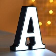 Светодиодный пластиковый знак с буквами «сделай сам», украшение для стола, украшение для дома, украшение для свадьбы, подарок на день Святого Валентина