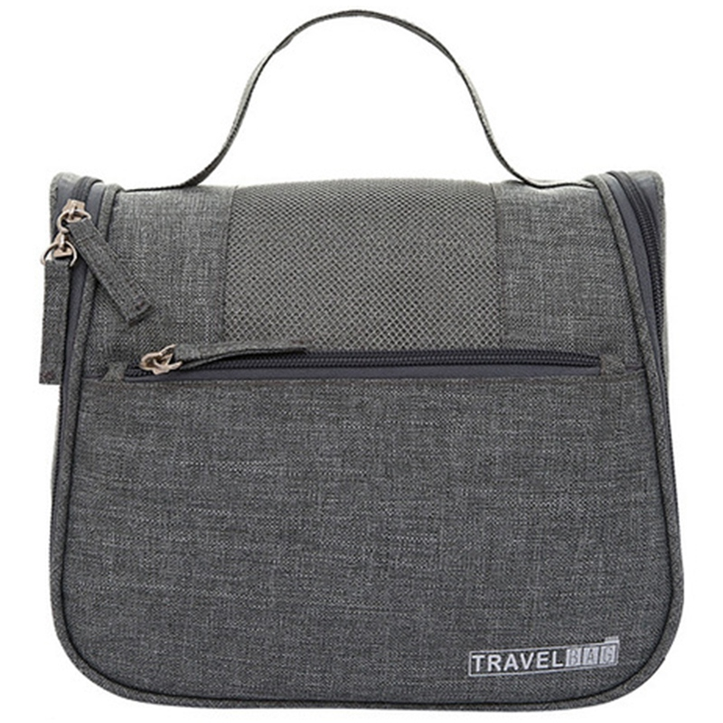 Gray Vanity Women Men Toilet Toiletry Kit Cosmetic Makeup Make Up Bag Case For Travel Organizer Pouch