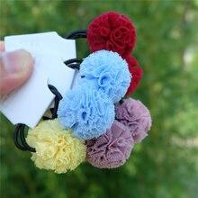 2 шт/компл милые цветные эластичные повязки для волос маленьких