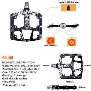 Image 5 - 2019New Ultra light and ultra thin 3 Bearings Pedals Aluminum alloy Mountain Bike MTB Anodizing Bicycle Pedal Road Bike Pedals