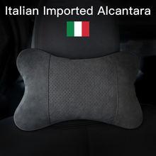 Итальянская alcantara Автомобильная подушка для шеи с обеих