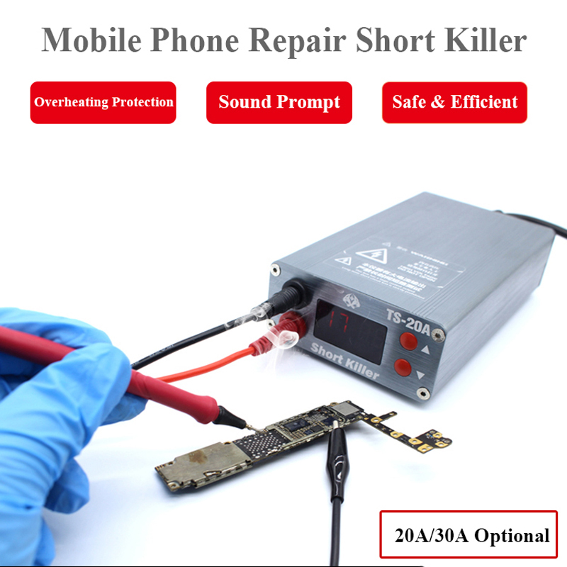 TS-30A TS-20A Mobile Phone Repair Short Killer for Mobile Phone Computer Motherboard Short Circuit Detection Burning Repair Tool