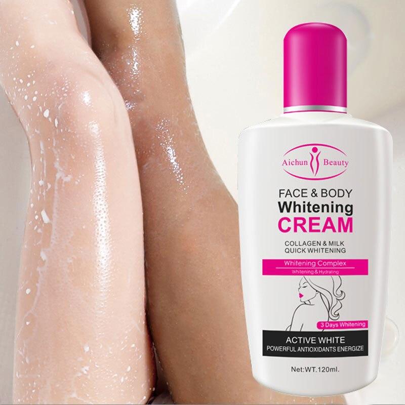Коллагена молока отбеливающий крем для лица и тела отбеливающий увлажняющий лосьон для тела кожи Осветляющий крем