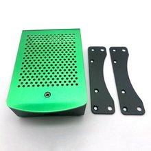 For Raspberry Pi 4B Aluminum Case Black Metal Shell Box With Fan Black Enclosure For RPI 4 Model B RPI 4B Case цена 2017