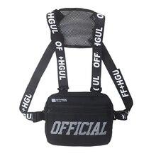 Men Chest Rig Hip Hop Functional Chest Bag Cross Shoulder
